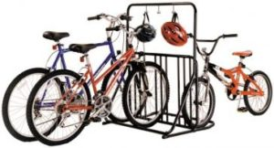 Six Bike Floor Rack