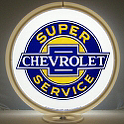 Chevy Service Gas Pump Globe