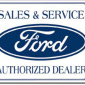 Ford Sales & Service Tin Sign