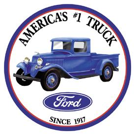 Ford Pickup Tin Sign