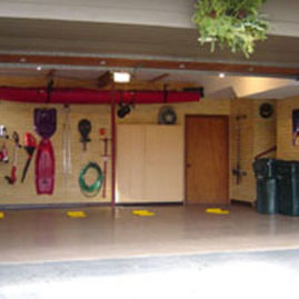 Organized Slatwall Panel Garage