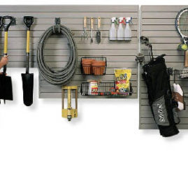 Garage Slatwall Storage and Organization