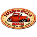 Hot Rod Oval Metal Sign