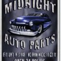 Midnight Auto Parts Sign