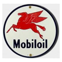 Mobiloil Porcelain Sign