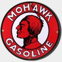 Mohawk Gas Porcelain Sign