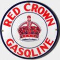 Red Crown Porcelain Sign