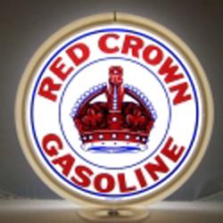 Red Crown Gas Pump Globe