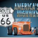 Route 66 Highway Metal Sign