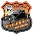 Route 66 Hot Rod Metal Sign