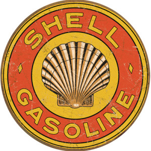 Shell Gasoline Tin Sign