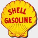 Shell Porcelain Die-Cut Sign