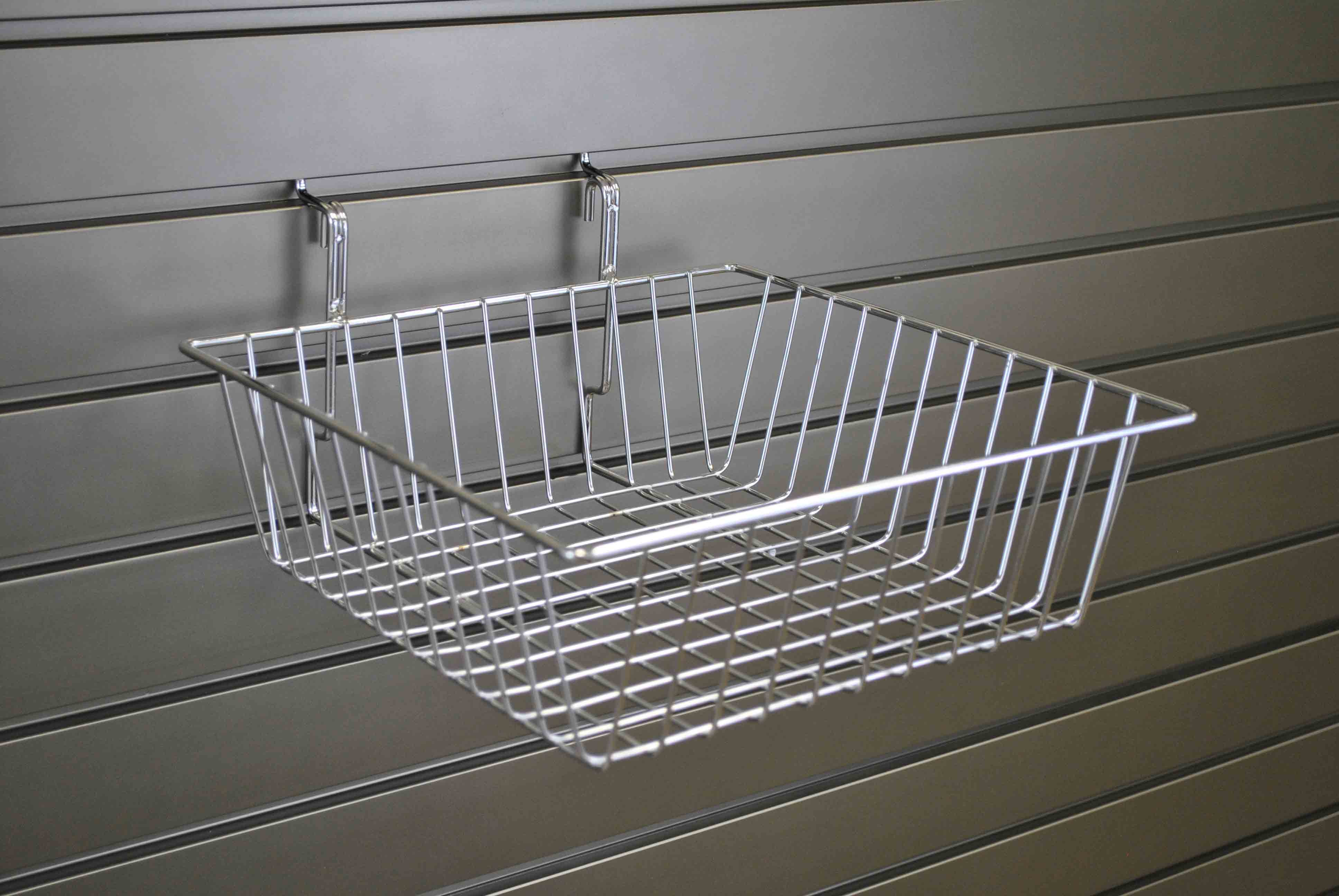 small wire basket the garage project. Black Bedroom Furniture Sets. Home Design Ideas