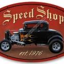 Speed Shop Metal Sign