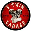V-Twin Garage Metal Sign