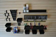 Work Center Kit for Slatwall Panels with props