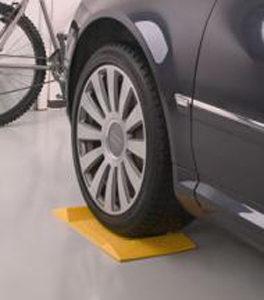 Yellow Garage Parking Stop