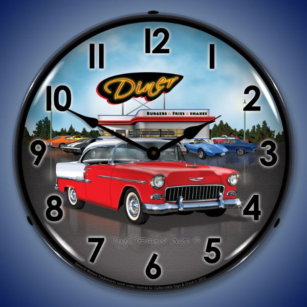 1955 Bel Air Diner Backlit Clock