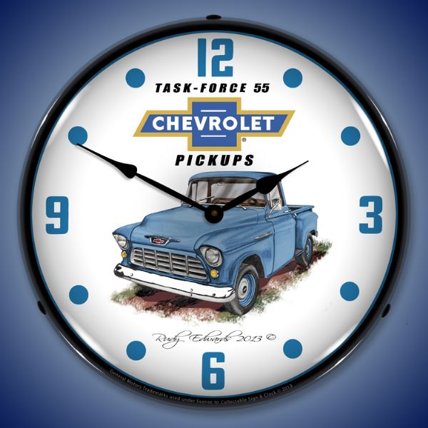 1955 Chevrolet Truck Backlit Clock