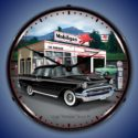 1957 Chevy Mobilgas Backlit Clock