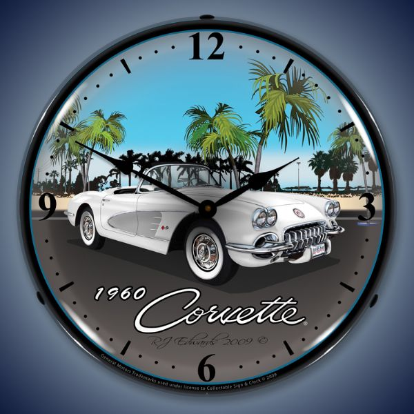 1960 Corvette Backlit Clock