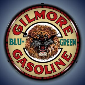 Gilmore Gas Backlit Clock