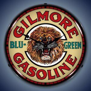 Gilmore Gas Backlit Clock