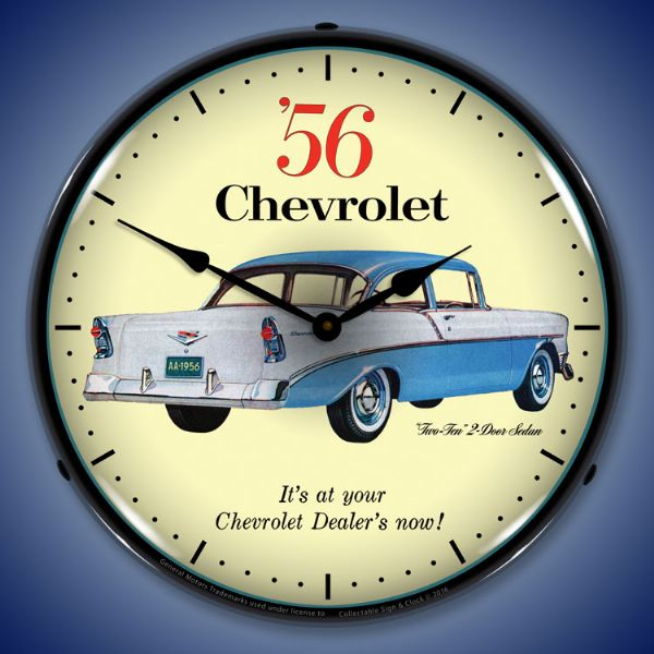 1956 Chevrolet 210 Backlit Clock