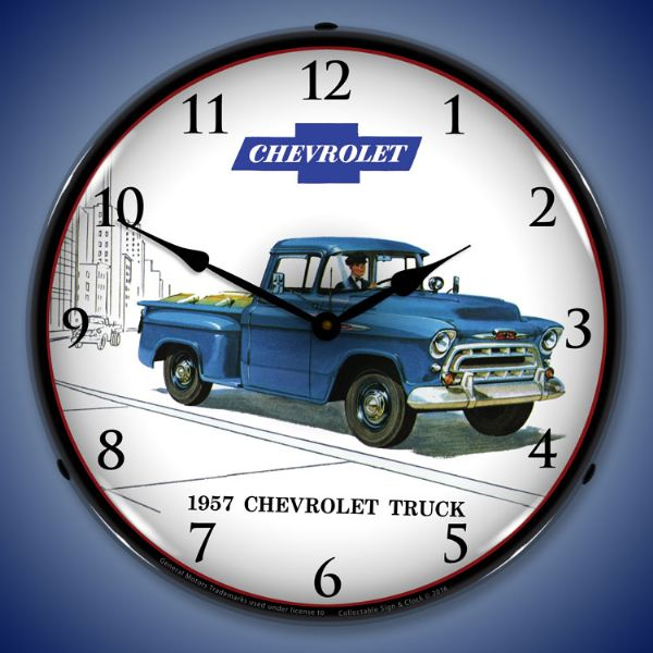 1957 Chevy Truck Backlit Clock
