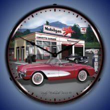 1957 Corvette Backlit Clock
