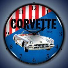 1958 Corvette GM Backlit Clock