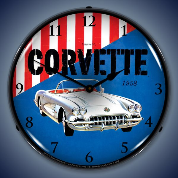 1958 Corvette GM Backlit Clock