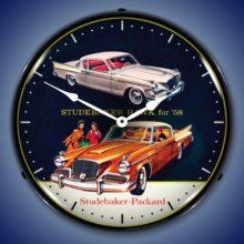 1958 Studebaker Hawk Backlit Clock