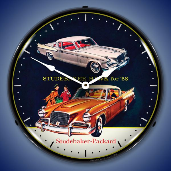 1958 Studebaker Hawk Backlit Clock