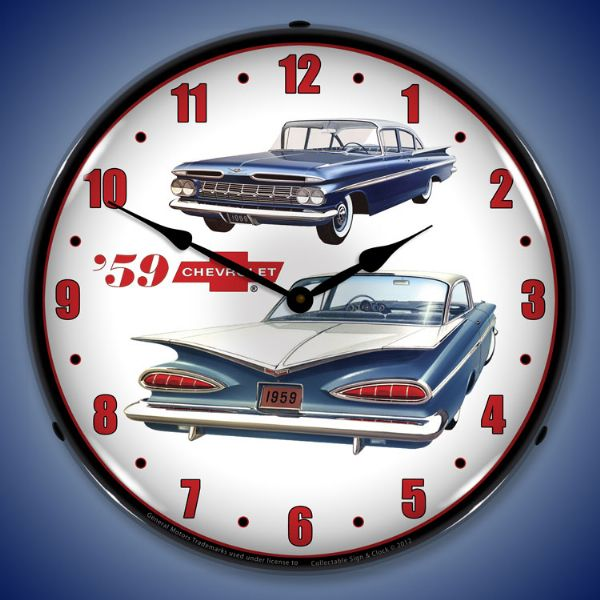 1959 Chevrolet Backlit Clock