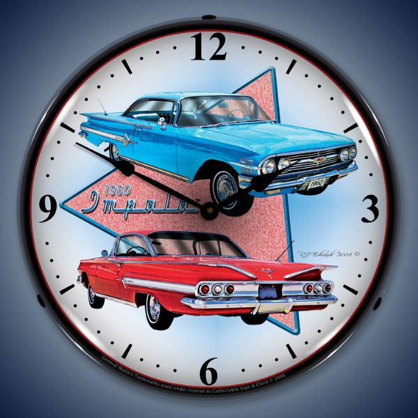1960 Chevy Impala Backlit Clock