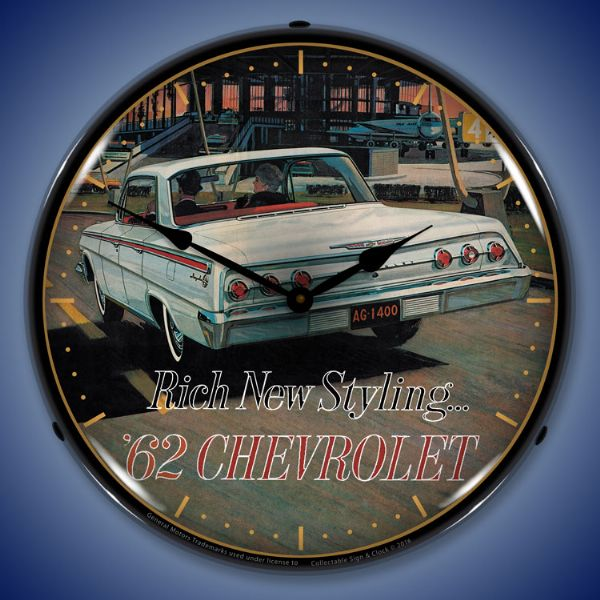1962 Chevy Impala Backlit Clock