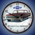 1963 Chevy II Nova SS Backlit Clock