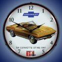 1964 Corvette Sting Ray Backlit Clock