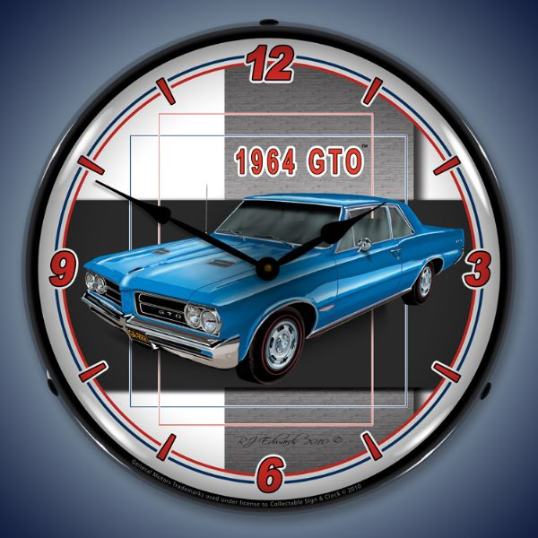 1964 GTO Backlit Clock