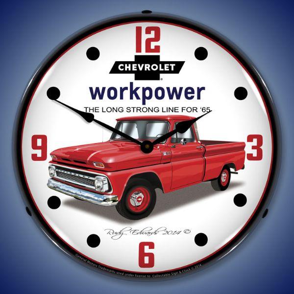 1965 Chevrolet Truck Backlit Clock