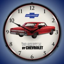 1966 Chevy II Nova SS Backlit Clock