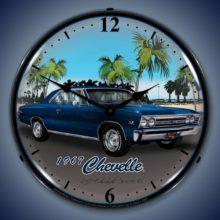 1967 Chevelle Backlit Clock