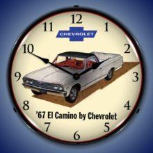 1967 El Camino Backlit Clock