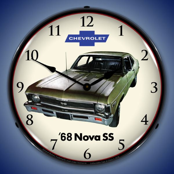 1968 Nova Super Sport Backlit Clock