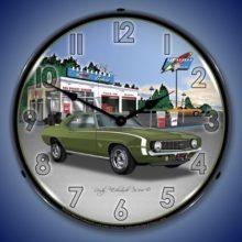 1969 Camaro SS Backlit Clock
