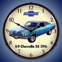 1969 Chevelle SS 396 Backlit Clock