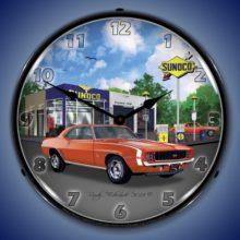 1969 RS SS Camaro Backlit Clock