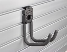 HandiWall 6 inch J Hook with Lock on Slatwall Panels