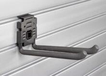 HandiWall 8 inch Double Hook with Lock on Slatwall Panels